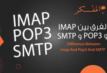 صورة الفرق بين IMAP و POP3 و SMTP دليل شامل