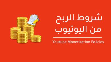 صورة شروط الربح من اليوتيوب 2021 اخر تحديث